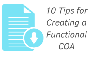 download 10 Tips for Functional Chart-Of-Accounts guide