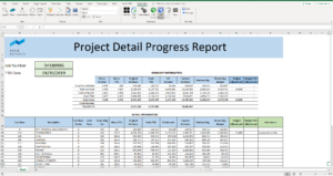 A screenshot of an example report made by Vivid Reports using Jonas data